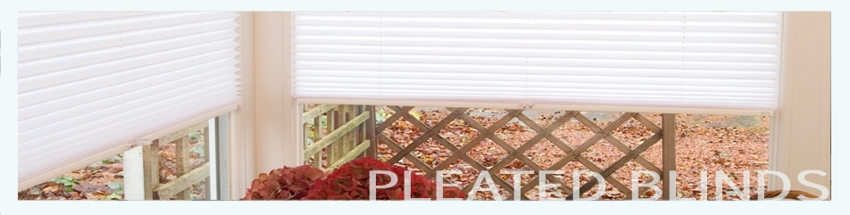 Pleated blinds from Saxon Blinds Northampton