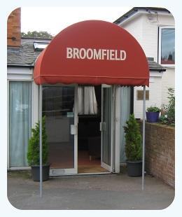 Covered Walkway & Dutch Canopies Shop Window u0026 Doorway Weather Protection - Saxon ...