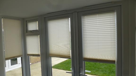 domestic pleated blinds
