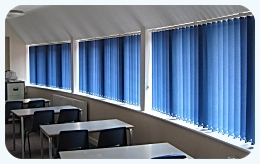 Superior Quality Vertical Blinds manufactured by Saxon Blinds, Notrthampton