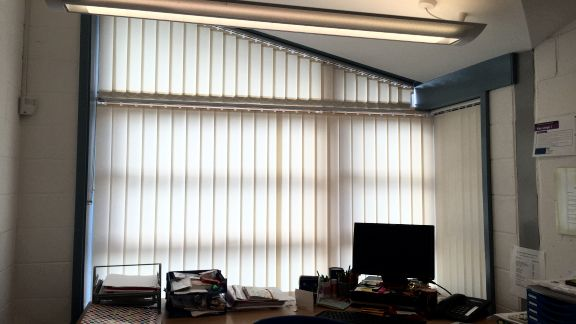 Custom Shaped Vertical Blinds For Curved Sloping And Bow
