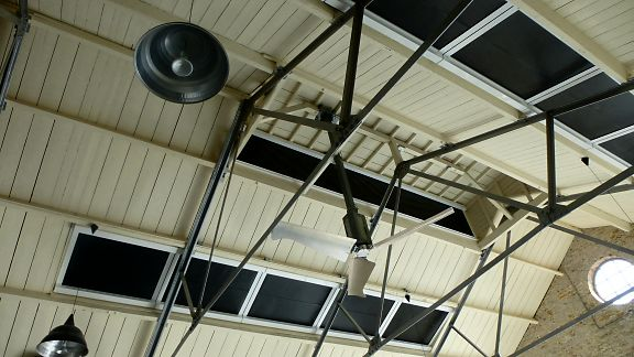 100% Blackout Blinds installed in a Museum Gallery Roof - by Saxon Blinds