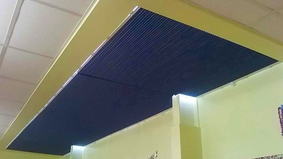 Pleated Roof Blinds shading School Room by Saxon Blinds