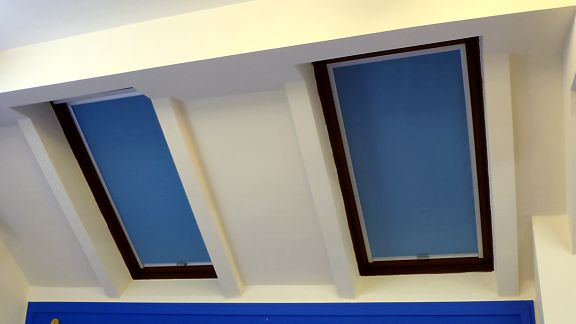Blackout Blinds installed on Skylight Windows - by Saxon Blinds