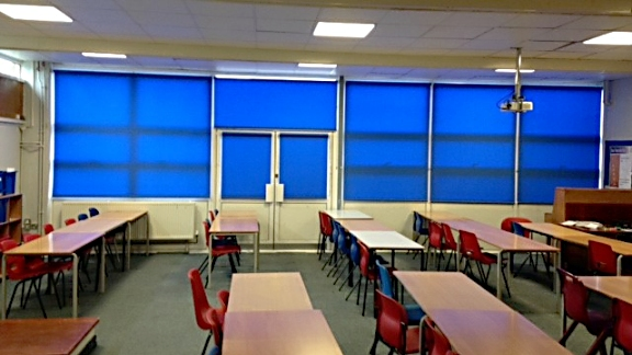 Heavy Duty Roller Blinds For Classroom And School Halls