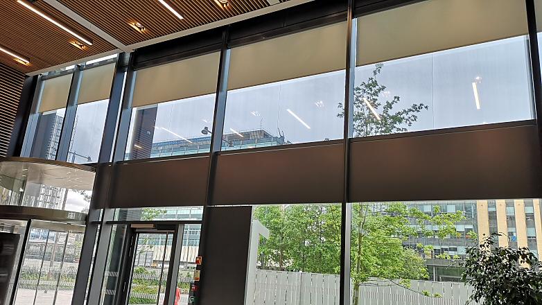 Large Roller Blinds in Atrium